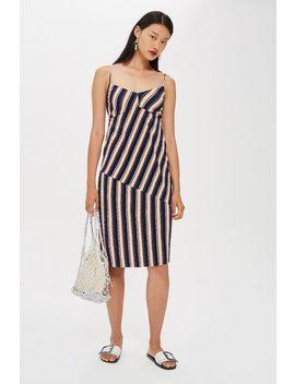 Mix Stripe Slip Dress by Topshop