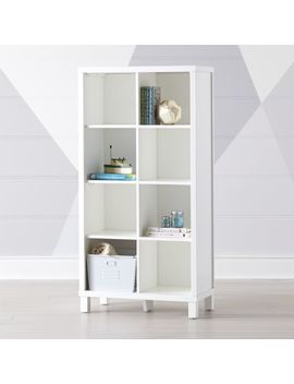 White 8 Cube Bookcase by Crate&Barrel
