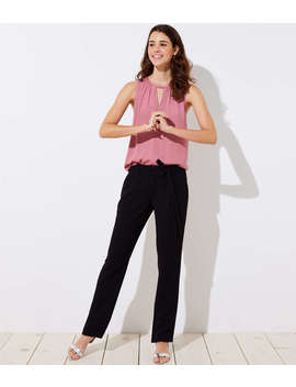 Slim Tie Waist Pants by Loft