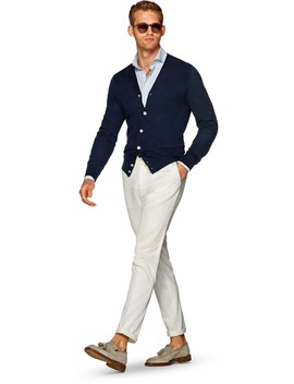 Navy Cardigan by Suitsupply
