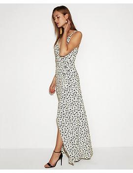 Polka Dot Strappy Wrap Maxi Dress by Express