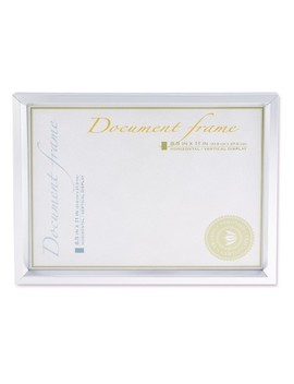 Universal® Plastic Document Frame, For 8 1/2 X 11, Easel Back, Metallic Silver by Universal