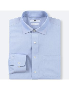 Men Super Non Iron Regular Fit Long Sleeve Shirt by Uniqlo
