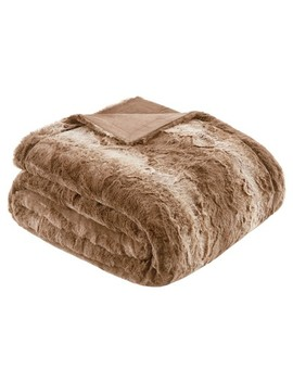 Faux Tip Fur Oversized Bed Throw by Target
