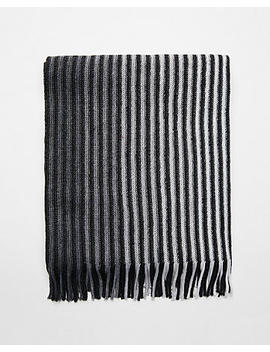 Merino Wool Blend Striped Scarf by Express