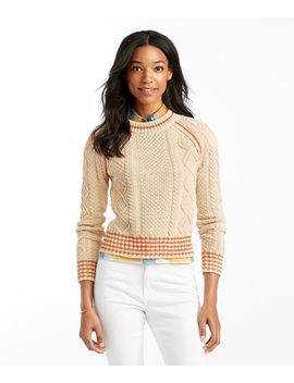 Signature Cotton Fisherman Sweater, Crewneck Tipped by L.L.Bean