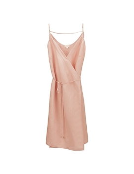 Linen Wrap Dress by Cuyana