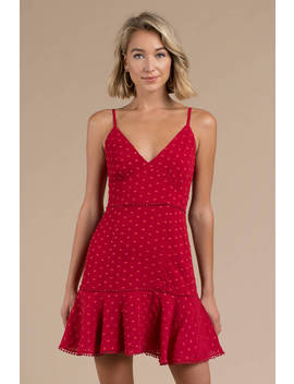Keepsake Deep Love Red Day Dress by Tobi