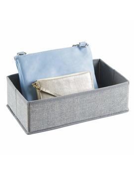 M Design Rectangular Soft Fabric Dresser Drawer And Closet Storage Organizer For Lingerie, Bras, Socks, Leggings, Clothes, Jewelry, Scarves   Light Gray by M Design