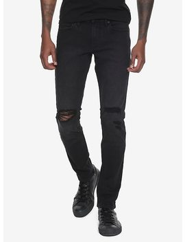 New! Xxx Rude Black Destructed Skinny Jeans by Hot Topic