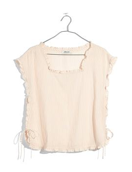 Stripe Ruffle Side Tie Top by Madewell