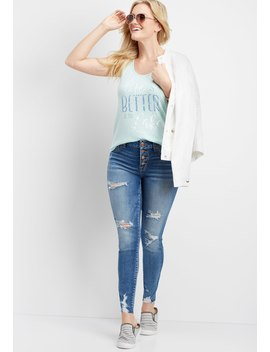 Denim Flex™ High Rise Button Down Fly Jegging by Maurices