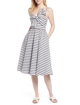 Stripe Bow Front Sundress by 1901
