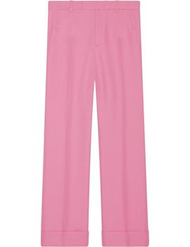Gucci Cuffed Retro Gabardine Pantshome Women Clothing Tailored Trousers by Gucci