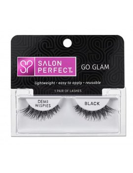 Salon Perfect Glamourous Lash Demi Wispie, Black, 1 Pair by Salon Perfect