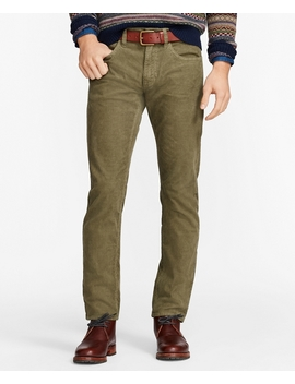 Garment Dyed 15 Wale Stretch Corduroy Pants by Brooks Brothers