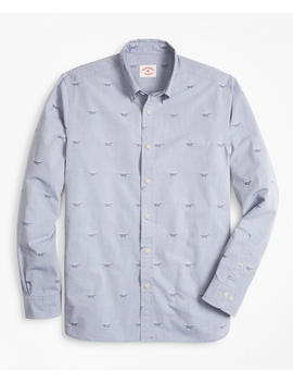Sailor's Knot Chambray Jacquard Sport Shirt by Brooks Brothers