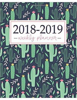 2018 2019 Planner: Weekly And Monthly Student Academic Calendar + Schedule Organizer | Inspirational Quotes And Fancy Cactus Cover | July 2018   2019 by Amazon