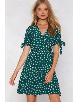 Be Leaf In Yourself Wrap Dress by Nasty Gal