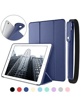 Dtto New I Pad 9.7 Inch 2018/2017 Case With Apple Pencil Holder, Ultra Slim Smart Case With Trifold Stand And Soft Tpu Back Cover For Apple I Pad 5th/6th Generation [Auto Sleep/Wake]   Navy Blue by Dtto
