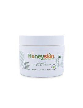 Ultimate Organic Moisturizer Cream (2 Oz) Face & Body, Manuka Honey, Aloe Vera, Anti Aging, Dry Skin Repair Lotion, Eczema, Psoriasis, Rashes, Rosacea, Wrinkles, 100 Percents By Honeyskin by Honeyskin Organics