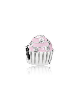 Sweet Cupcake, Light Pink Enamel & Clear Cz by Pandora