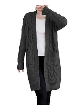 Nutexrol Women's Open Front Long Sleeve Knit Think Cardigan Chunky Sweater Oversized Coat by Nutexrol