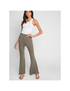 Glenora Bell Bottoms In Olive by Wet Seal
