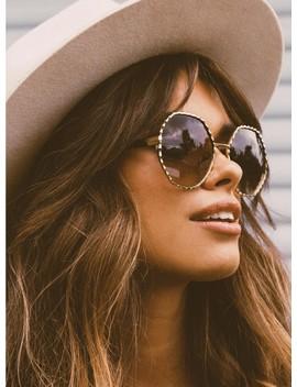 Quay Australia Breeze In Sunglasses Gold/Brown by Quay Australia
