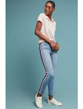 Joe's The Charlie High Rise Striped Skinny Ankle Jeans by Joe's Jeans