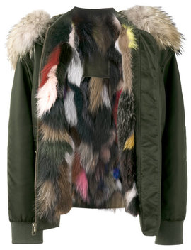 Multi Coloured Fur Lined Bomber Jacket by Mr & Mrs Italy