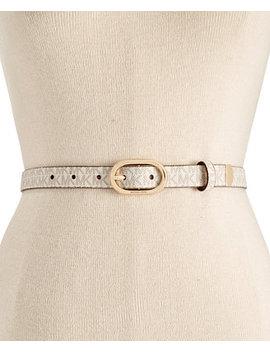 Signature Skinny Belt by Michael Michael Kors