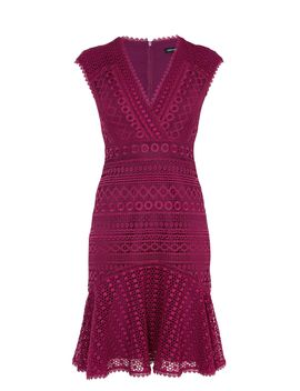 Lace Peplum Dress by Karen Millen