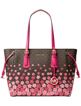 Voyager Signature Floral Medium Tote by Michael Michael Kors