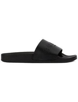 Balmainembossed Logo Slide Sandalshome Men Shoes Flip Flops & Slides by Balmain