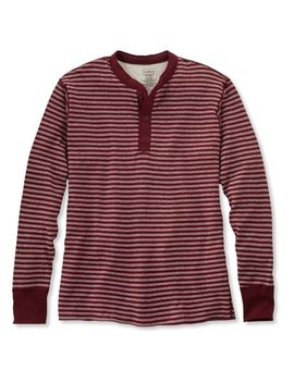 Two Layer River Driver's Shirt, Traditional Fit Henley Stripe by L.L.Bean