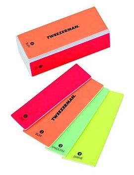 Tweezerman Neon Hot 4 In 1 File, Smooth & Shine Block by Tweezerman