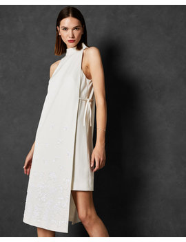Double Layer Embellished Dress by Ted Baker