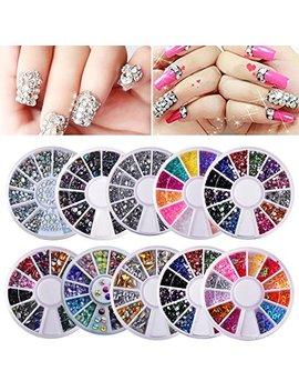 Biutee 10 Wheels Nail Art Decor Accessories Nail Rhinestones Premium Manicure Nail Art Decorations Nail Tools by Biutee