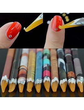 Mety Angel Nail Art Picker Resin Pencil Rhinestones Dotting Pick Up Tool Wax Pen 10 Pcs (10 Pcs Pen) by Mety Angel