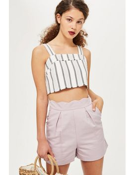 Scallop Shorts by Topshop