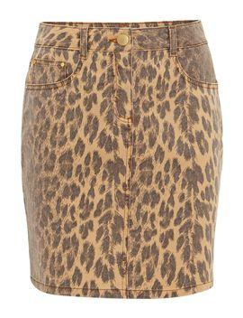 Alexia Leopard Print Denim Skirt by Damsel In A Dress