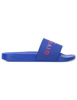 Givenchylogo Pool Slideshome Men Shoes Flip Flops & Slides by Givenchy