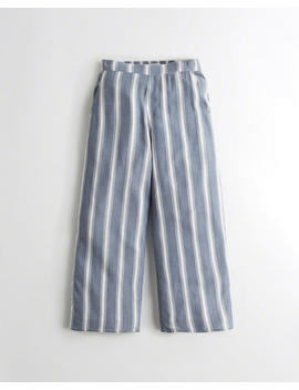 Crop Wide Leg Woven Pants by Hollister