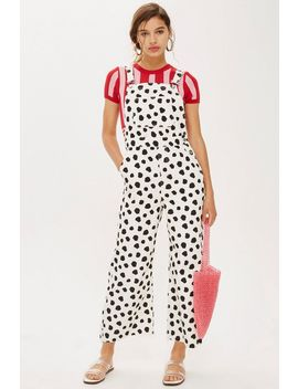 Spot Denim Dungarees by Topshop