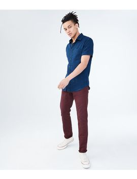 Slim Straight Color Wash Stretch Jean by Aeropostale