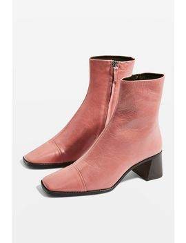 Muriel Mid Heel Boots by Topshop