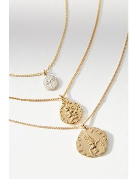 Relics Coin Necklace Set by Anthropologie