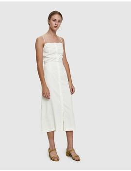 Fowler Linen Open Back Dress by Farrow