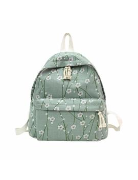 Hunpta Backpack, Women Girl Fresh Casual Backpack Floral Print Travel Rucksack School Bag (Green) by Amazon